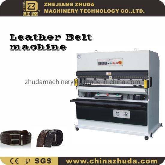 Zhuda 120t Automatic Hydraulic Belt Embossing Machine for Lrather