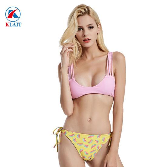 c2c5dde859c Manufacturer Custom Color Reversible Triangle Braziilian Cut Women Bikini  Swimwear