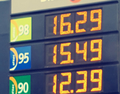 Outdoor LED Display for Gas Station Signage (12in)