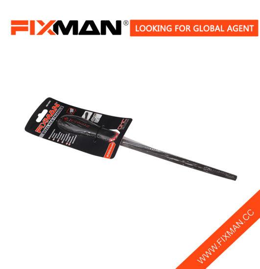 Fixman Steel Three Square File, Triangle Sides Hand Triangular Metal File  Tool