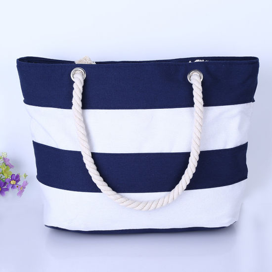 New Style Top Selling Custom Logo Printing Shopping Bag Cotton Packaging Bags Foldable Zipper Canvas Bag