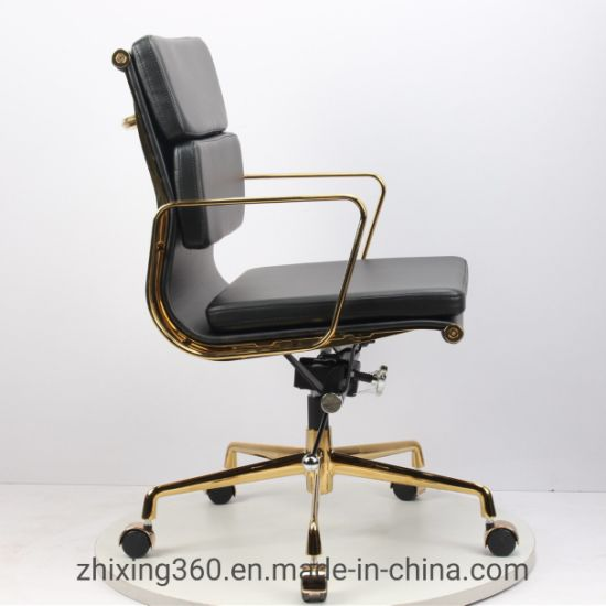 Eames Office Chair Designer Chair Engraved Classic Gold-Plated Office  Swivel Chair Leather Boutique
