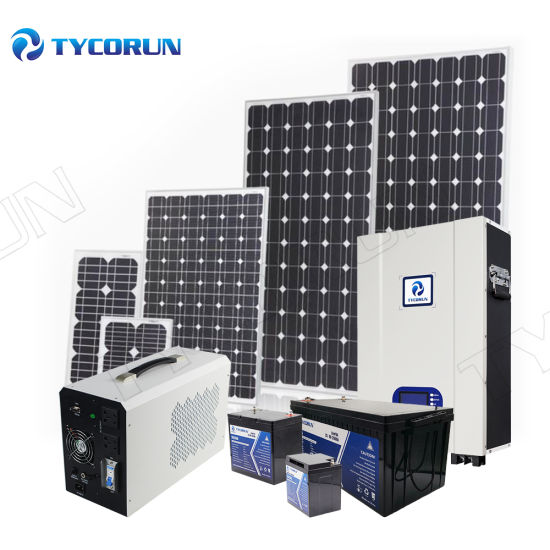 Tycorun Factory OEM 2021 Lighting Camping Home Generator Kits Portable Solar Products PV Panel Energy Power System with Inverter Lithium Battery