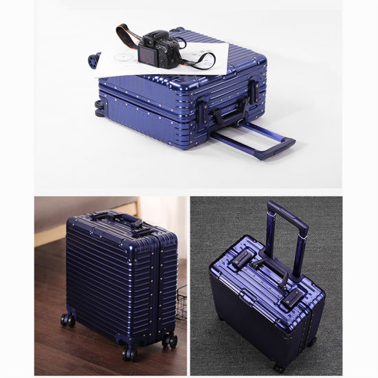 Best Fashion Leisure Stylish Carry-on Hand Travel Trolley Aluminium Luggage