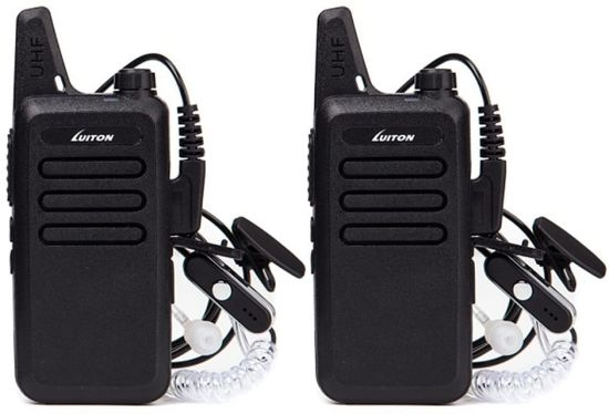 Mini Walkie Talkie Lt-316 with Earpiece Rechargeable 3 Watt for Camping Hiking Playing Outdoor Game