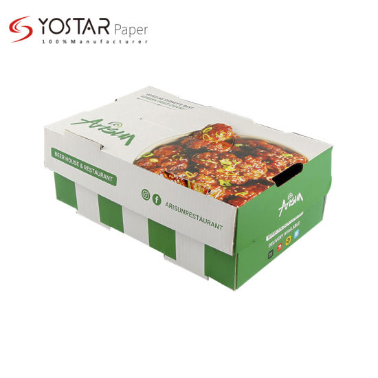 Manufacturer Custom Logo Colorful Packing Corrugated Paper Box for Fast Food Lunch