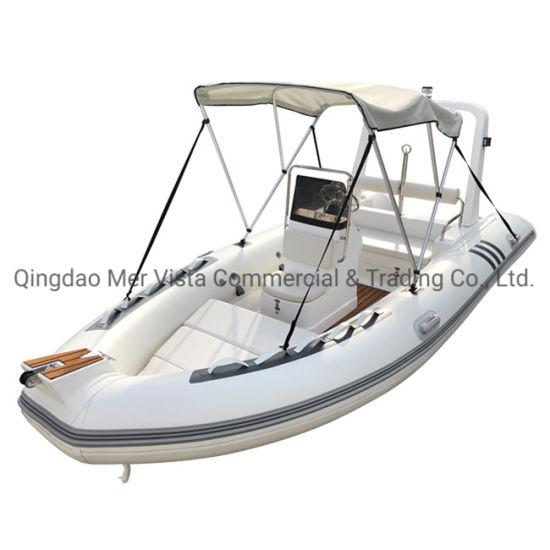 CE 4.8m Rib 480 Hypalon PVC Fiberglass Hull Inflatable Fishing Cabin Rib Boat
