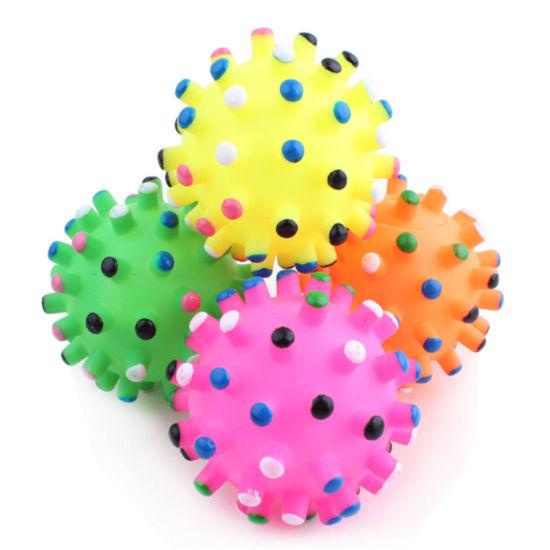 Pet Sounding Vinyl Thorn Ball Bite Resistant Toy