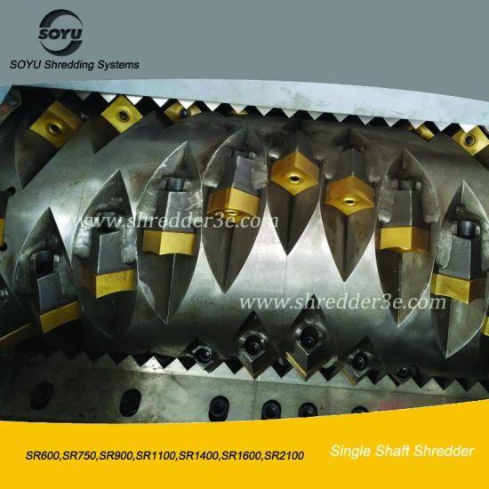 Single Shaft Plastic/Wood/PVC/Paper Shredder/Crusher for Sale