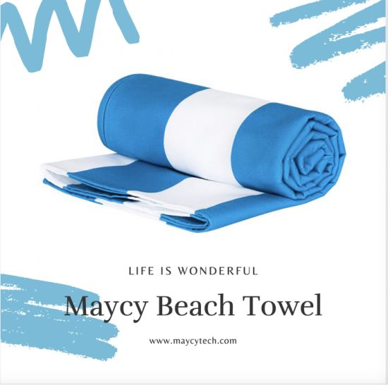 Summer Sand Free Microfiber Beach Hand Hair Towel, Fast Dry Large Marine Sports/Yoga/Travel/Camping/Bath Towel pictures & photos