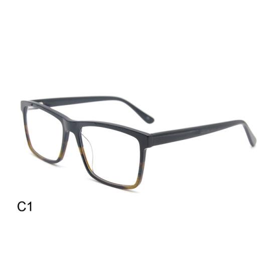 Wenzhou Factory Square Acetate Blue Light Blocking Glasses Optical Frame for Men