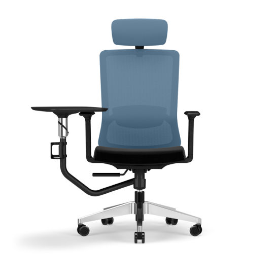 China Bifma Standard High Back Mesh Office Manager Ergonomic Chair With Writing Pad China Executive Chair Light Task Chair