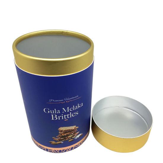 Customized Food Grade Inner Aluminium Foil Tea Paper Cans Coffee Chocolate Round Tube Box
