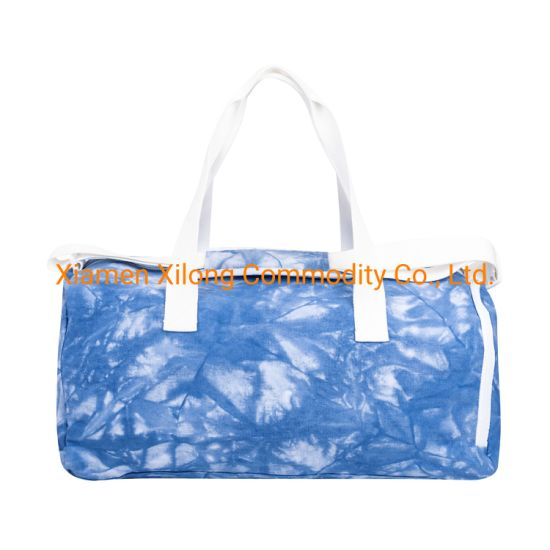 Customized Large Capacity Waterproof Tie-Dyed fabric Trave Luggage Sport Duffle Bag for Traveling