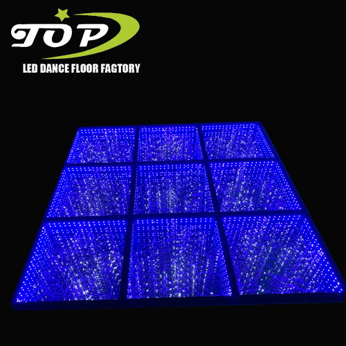 Auto Color Changing 3D Effect Tempered Glass LED Dance Floor for Sale