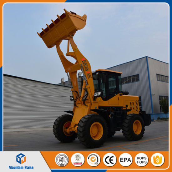 China Mini Loader 1.8-2 Ton 4WD Front End Wheel Loader Earth-Moving Machine Price Ce/ISO pictures & photos