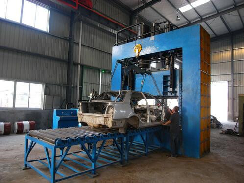 Gantry Shear Machine Substituting Flame Cutting on Car Recycling pictures & photos
