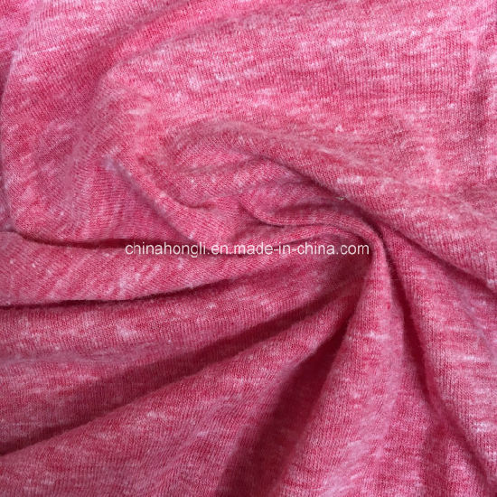 Snow Yarn T/C/R 50/38/12, 150GSM, Single Jersey Knitting Fabric for Causl Wear