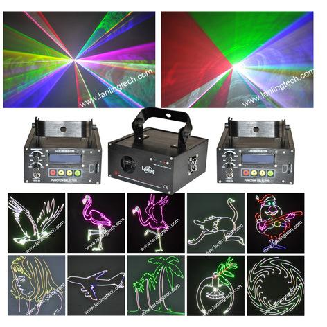 RGB Full Laser Light Show System SD Card LS888RGB