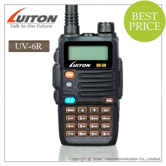 Dual Band Two Way Radio VHF UHF UV-6r with FM Radio