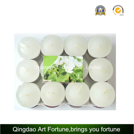 White Tealight Candle with 4 Hour Burning Time Supplier pictures & photos