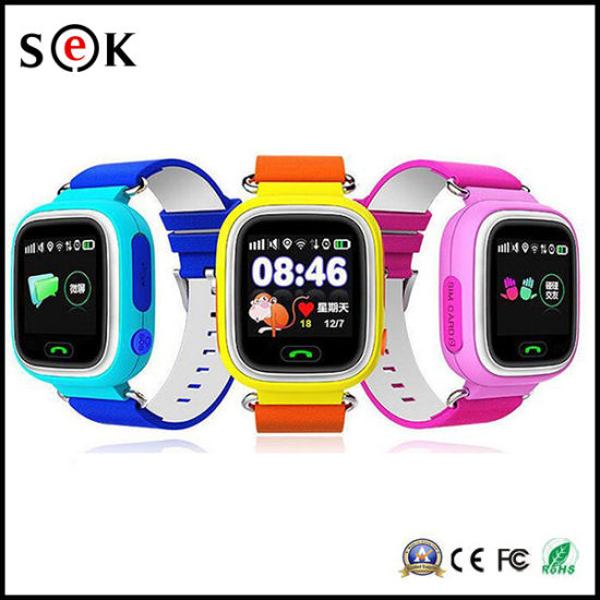 ef510b038 Factory Wholesale IPS Touch Screen Phone Call Q90 Children GPS Tracker Smart  Watch for Kids pictures