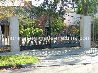 Elegant Exterior Custom Main Entry Wrought Iron Gate Design pictures & photos