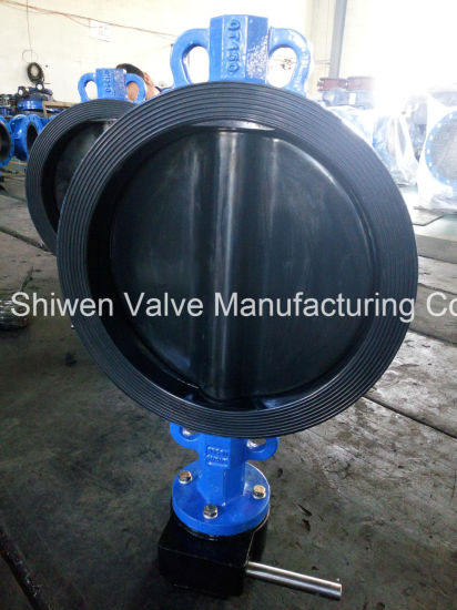 Qt450 150lb Rubber Lined Wafer Butterfly Valve with Gear pictures & photos