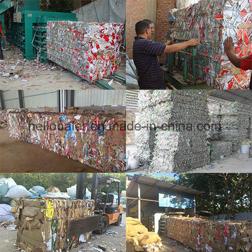 Horizontal Semi Automatic Press Waste Paper Baler with Conveyor pictures & photos