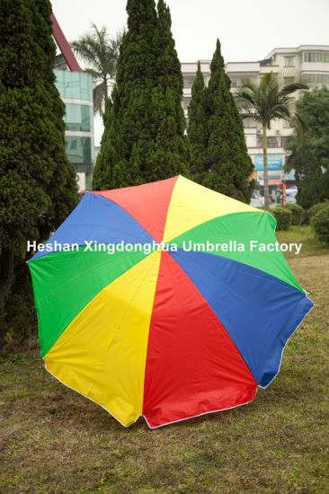 2.5m Rainbow Sun Beach Umbrella for Outdoor (BU-0060S) pictures & photos