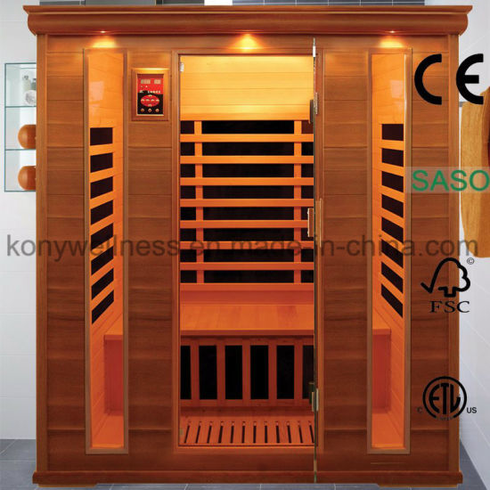 4 Person Dry Sauna Room Made of Cedar for Indoor Use