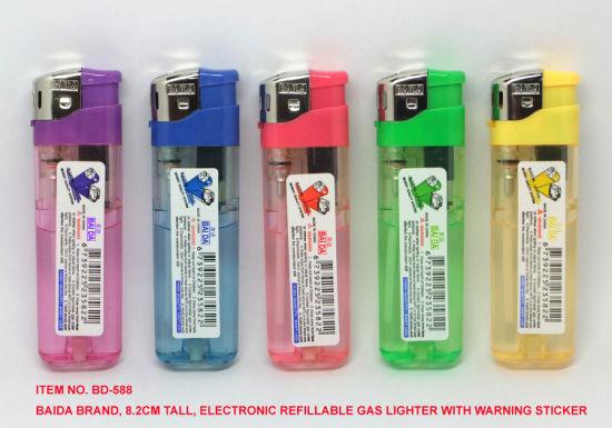 (Item No. BD-588) Baida Lighter, Electronic Refillable Gas Lighter