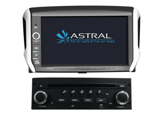 Car Audio Video DVD GPS Navigation Player for Peugeot 208 2008