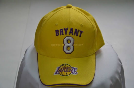High Quality Custom Embroidery Sports Cap with Pipings for Basketball Association