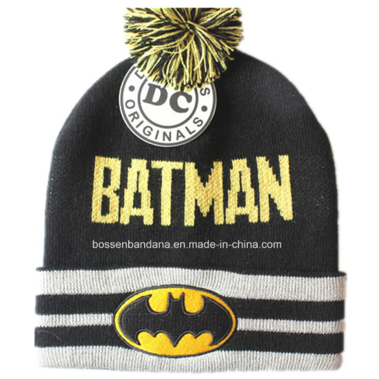 c1a23e6ec39c9e China Factory Customized Cartoon Design Acrylic Knit Jacquard Warm Fold Beanie  Hat pictures & photos