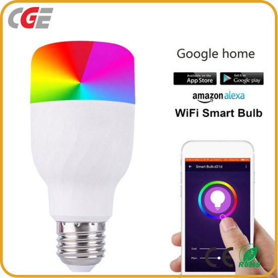 7W 9W WiFi Smart Bulb 16 Million RGB Color Changing LED Light Bulb Work with Alexa Google Home