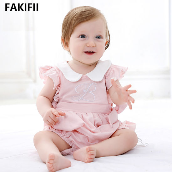 2021 Newborn Baby Clothes Baby Girl Romper Summer 100% Cotton Short Sleeve Cute Romper