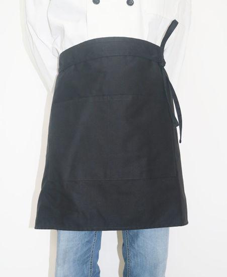 High Quality Kitchen Cooking Coffee Chef Half Black Waist Apron