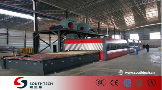 Southtech New Generation Passing Flat Double Chamber Double Quenching Toughening Glass Processing Machine with Vortech Convection System (TPG-2S-V series)