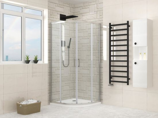 China Factory Quadrant Aluminum Profile Shower Enclosure with 6mm Tempered Glass