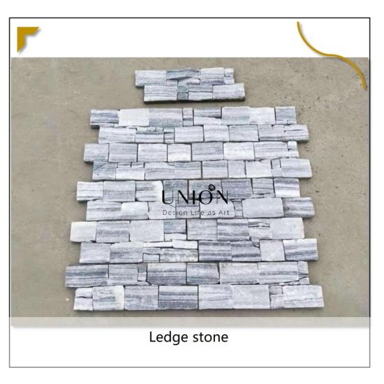 China Natural Surface Tiles Stack, Stone Tile Fireplace Surround