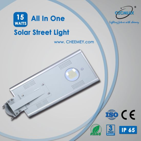 15W All in One Solar LED Street Road Lighting for Outdoor