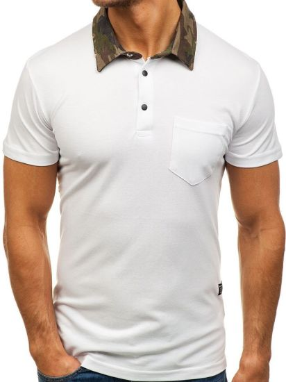 Men's Polo Shirt Lapel Casual Short-Sleeved Slim T-Shirt Clothing