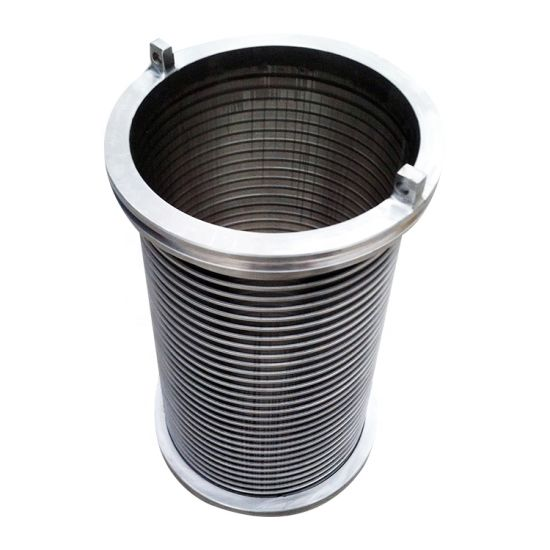 Reverse Slotted Johnson Screen Wedge Wire Screen Cylinder for Back Flush Filter Equipment