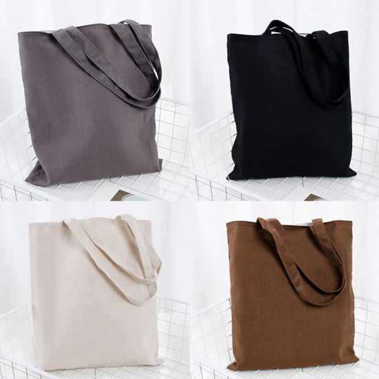 Large Capacity Reusable Washable Durable Washable Natural School Universal Cotton Shopping Reusable Tote Bag