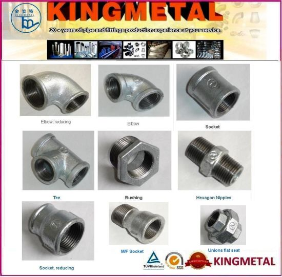 Bsp Threading Galvanized Malleable Iron Pipe Fittings