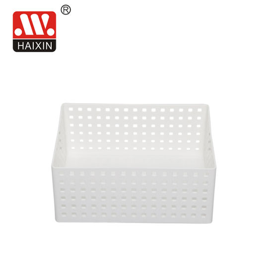 Square Plastic Woven Storage Towel Desk Baskets for Office Bathroom and Household