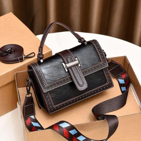 European Fashion New Style PU Cross-Shoulder Large Ladies Handbag PU Leather Lady Handbag for Women