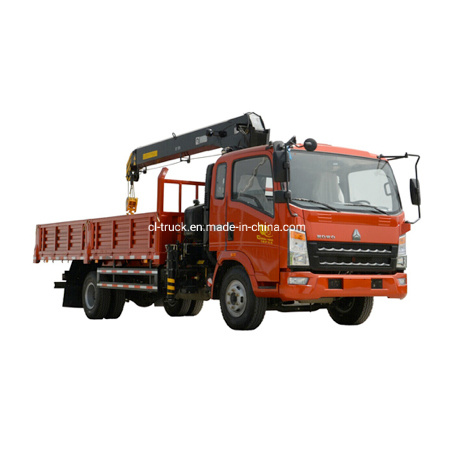 HOWO Light 4X2 Yuchai Engine Clw Brand 5tons Truck Mounted Crane