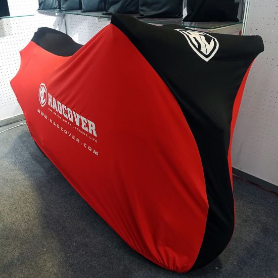 Special Design Red Black Indoor Motorcycle Cover Dust-Proof Softfeeling